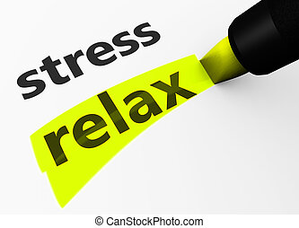 Stress Vs Relax Choice Concept - Healthy lifestyle and...