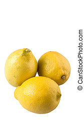 Lemon Fruit - Lemon fruit over white background