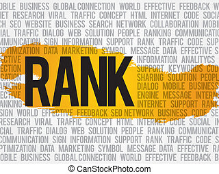 Rank word cloud, business concept