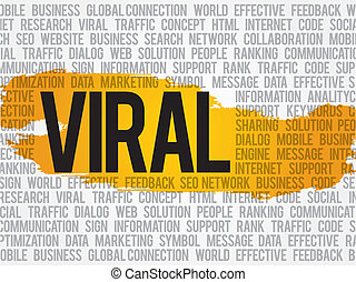 Viral word cloud, business concept