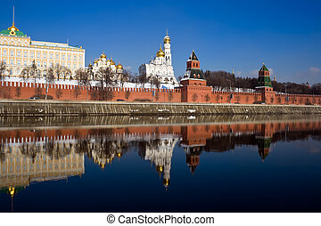 Moscow Kremlin and its reflection
