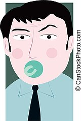 Man with a pacifier