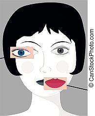 New plastic face - A pretty female face with the option of...