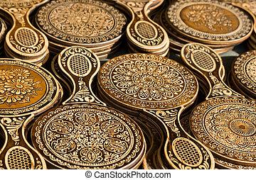 Souvenirs - Russian souvenirs made of birchbark