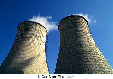 Chimneys of power station