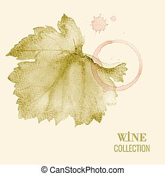 Wine list - Concept design for a wine list Vector...