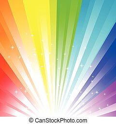 Rainbow background - Abstract vector illustration of a...