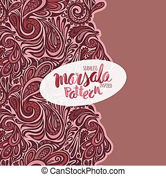 Marsala inspired seamless trendy pattern,fashionable...