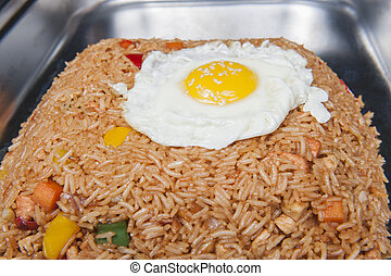Indonesian Nasi Goreng meal at a chinese restaurant -...