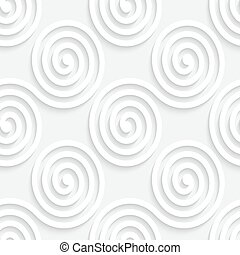 Seamless Wave Pattern - Vector White Seamless Wave Pattern