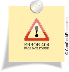 Error 404 sign