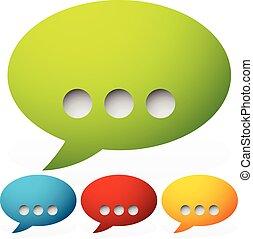 Speech bubbles with ellipsis punctuation mark Speech bubbles...