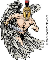 Angel fighter - An illustration of a warrior angel character...