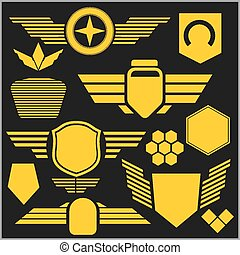 Military symbol icons - vector set - Military and transport...