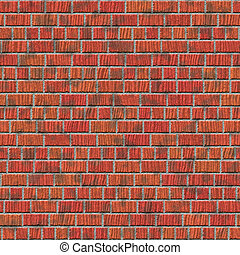 Brick wall - Abstract generated brick wall surface seamless...