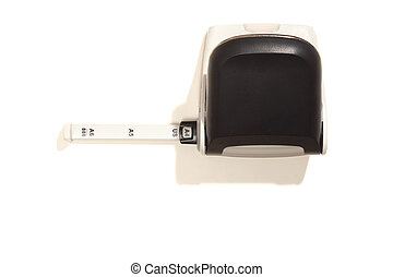 Hole puncher with scale, top view, isolated on white -...