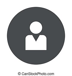 Vector modern gray circle icon - Vector modern man gray...