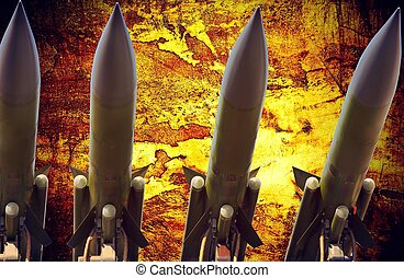 antiaircraft missiles abstract grunge dramatic photo