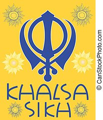 khalsa greeting - a vector illustration in eps 10 format of...