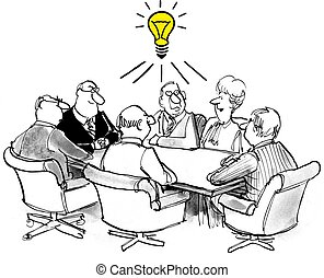 Innovation - Business meeting where a new idea is developed.