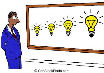 Innovation - Business cartoon about innovation.