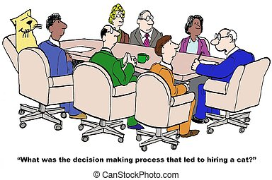 Decision Process - Business cartoon about the decision...