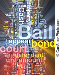 Bail background concept illustration glowing - Background...