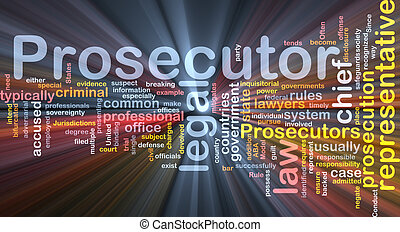 prosecutor background concept illustration glowing -...
