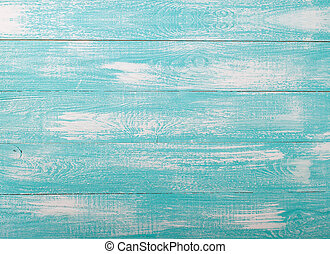 Wooden texture top view horizontally - Blue white wooden...
