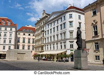 austria, vienna, judenplatz - the jews in vienna, austria....