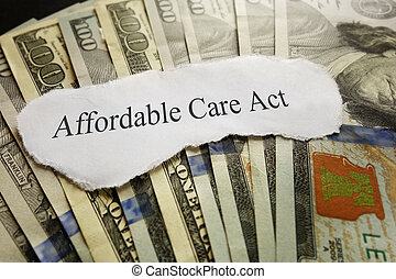 ACA headline - Affordable Care Act news headline on cash...