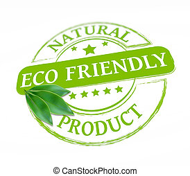 Eco friendly stamp - Eco product grunge stamp as concept