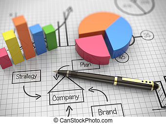 Business chart - Financial and business chart and graphs