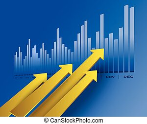 Business arrows - Financial and business chart and graphs