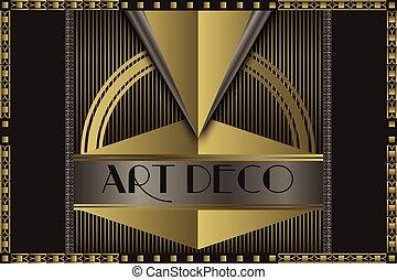 Art deco concept - Art deco geometric vintage frame for your...