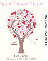 heart tree poster template
