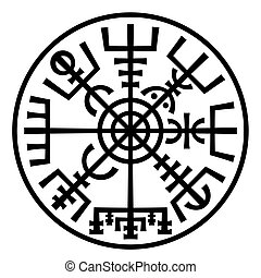 Vegvisir. The Magic Compass of Vikings. Runic Talisman (In...