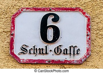 street name school lane - school lane sign a street name and...