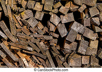 stack of firewood, symbol of fuel, renewable resources,...