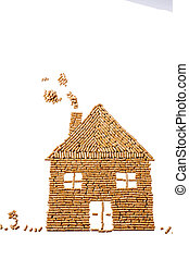 from pellets to heat house - a house built of pellets for...