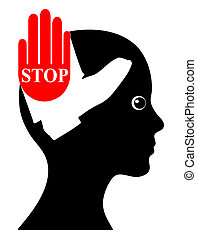 Ban Violence against Women - Concept sign to raise awareness...