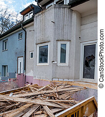 terraced houses to be renovated - older houses be...