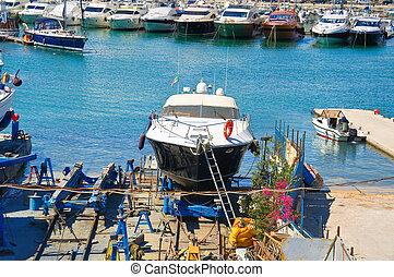 Shipyards Trani Puglia Italy