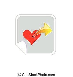 heartbeat with arrow vector