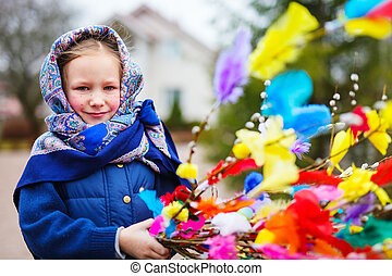 Little girl celebrating Easter - Adorable little girl...