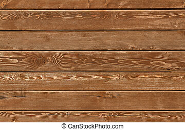 Wooden wall - Blank natural wooden wall background or...