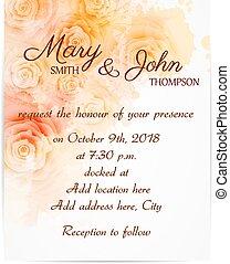 ro, abstrakt, inbjudan, Mall, bröllop