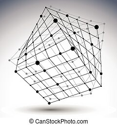 Abstract 3D structure polygonal