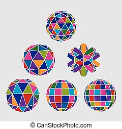 Collection of complex 3d spheres