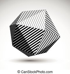 Abstract 3D spherical vector contra